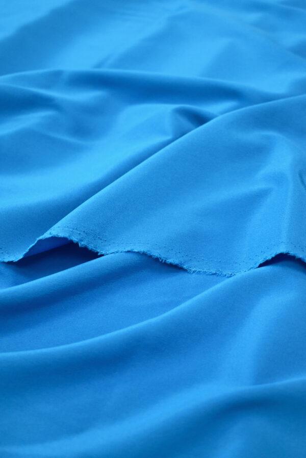 Шелк стрейч ярко-голубого оттенка (9394) - Фото 9