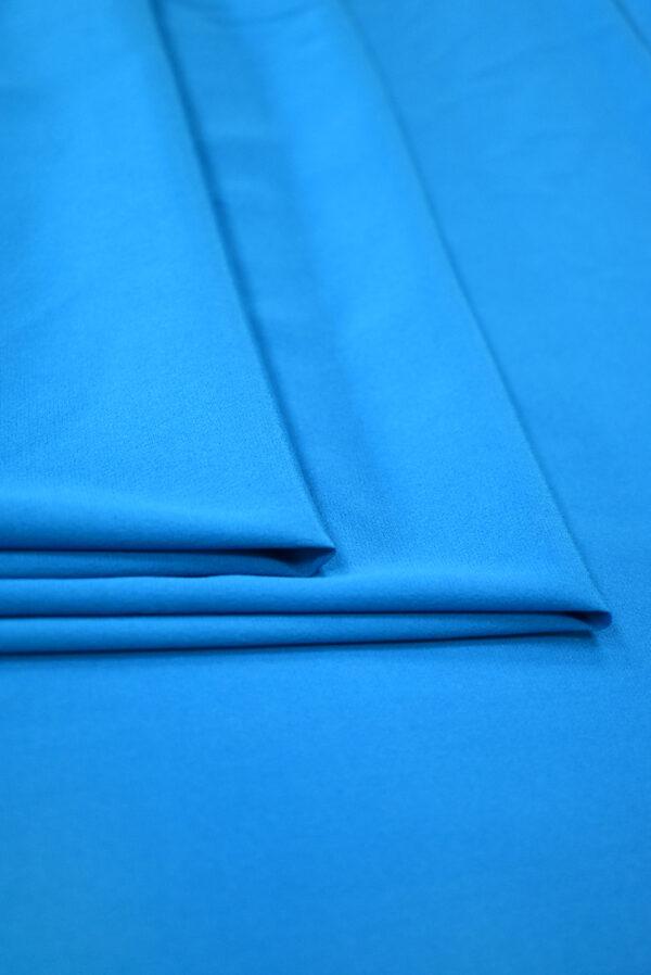 Шелк стрейч ярко-голубого оттенка (9394) - Фото 8