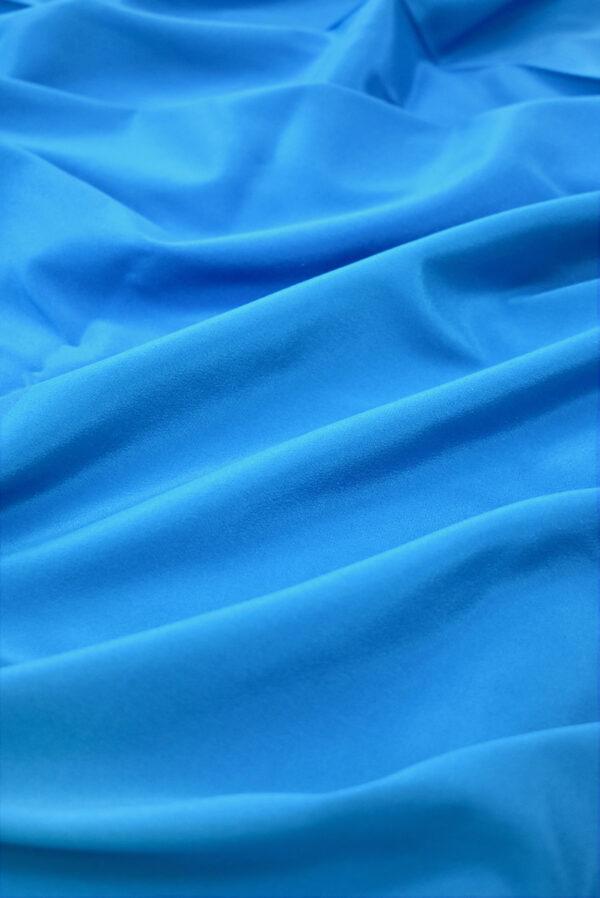 Шелк стрейч ярко-голубого оттенка (9394) - Фото 6