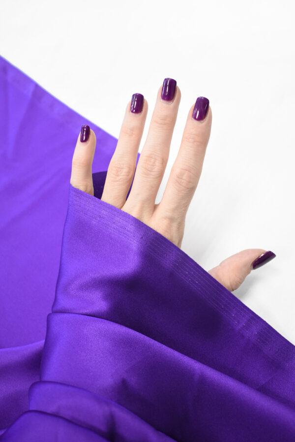 Шелк атласный фиолетовый (9395) - Фото 10