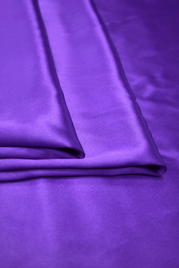 Шелк атласный фиолетовый (9395) - Фото 9
