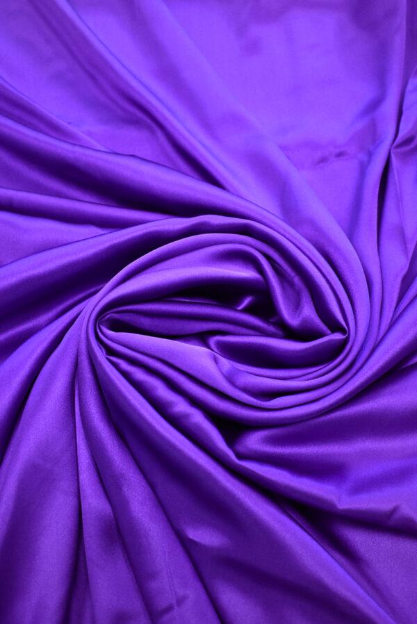 Шелк атласный фиолетовый (9395) - Фото 7