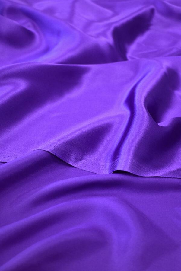 Шелк атласный фиолетовый (9395) - Фото 8