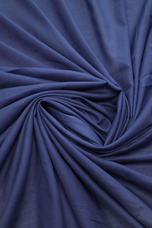 Хлопок рубашечный темно-синего оттенка (9398) - Фото 7