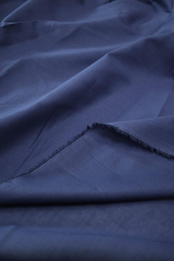 Хлопок рубашечный темно-синего оттенка (9398) - Фото 9