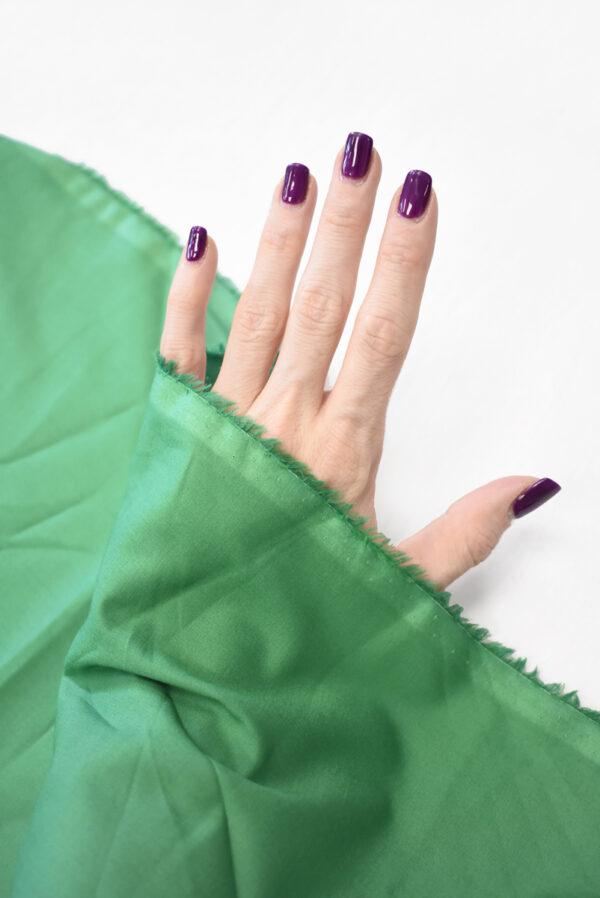 Хлопок рубашечный зеленого оттенка (9400) - Фото 10