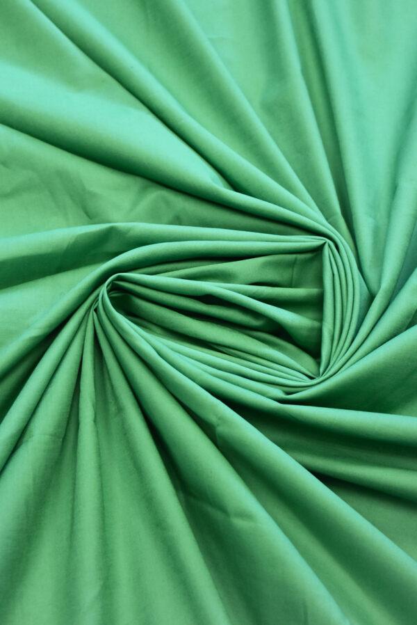 Хлопок рубашечный зеленого оттенка (9400) - Фото 7