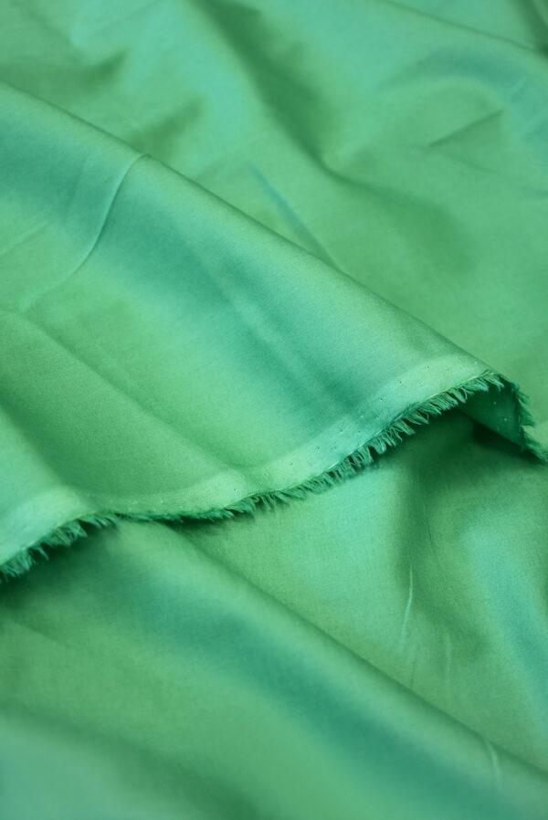 Хлопок рубашечный зеленого оттенка (9400) - Фото 8