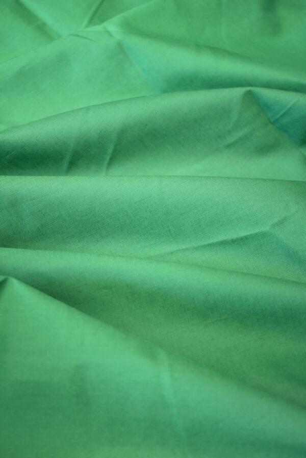 Хлопок рубашечный зеленого оттенка (9400) - Фото 6