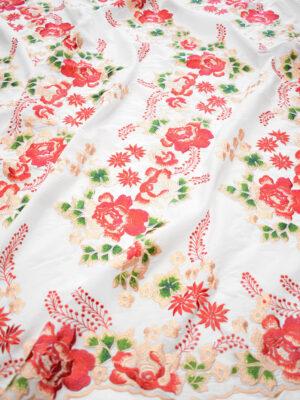 Вышивка ярко-красные цветы на белом фоне (9423) - Фото 14