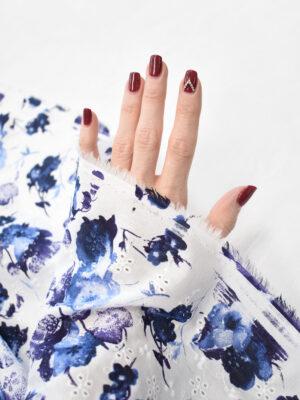 Вышивка синие цветы на белом фоне (9424) - Фото 13