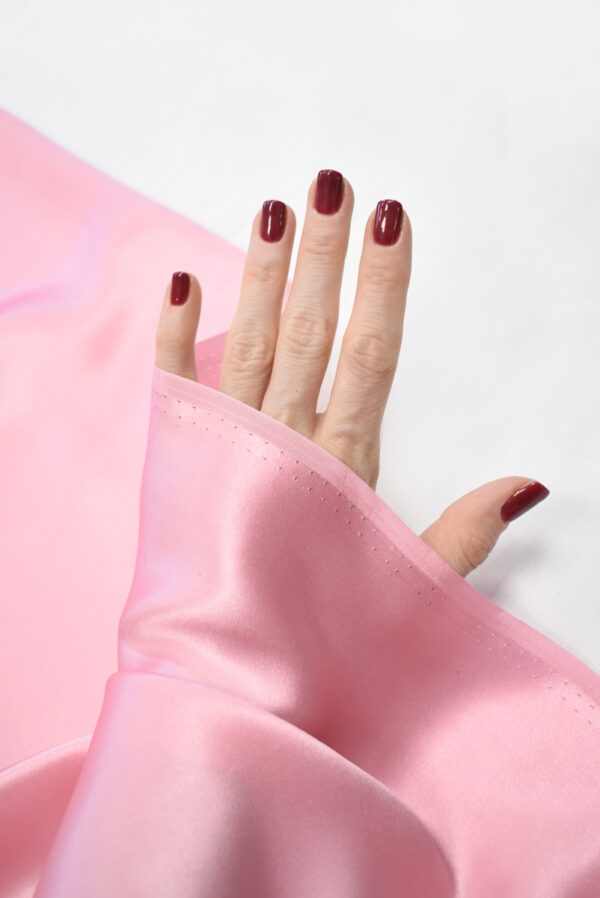 Шелк атласный розовый (9464) - Фото 11