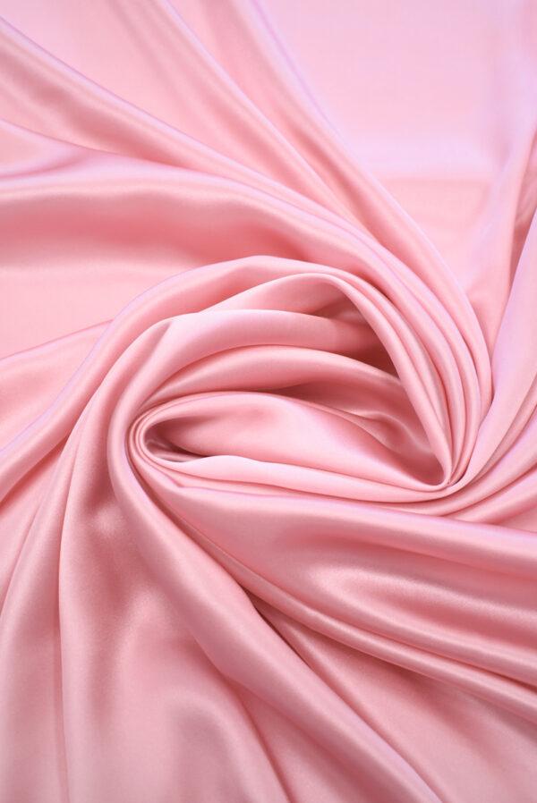 Шелк атласный розовый (9464) - Фото 7