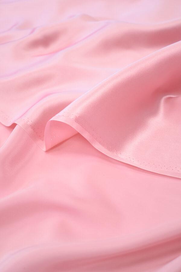Шелк атласный розовый (9464) - Фото 9