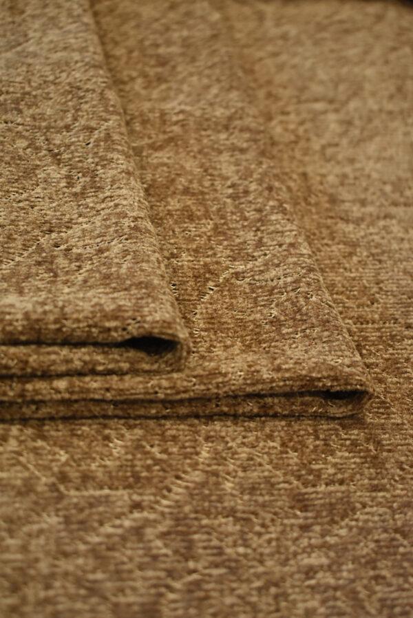 Трикотаж велюровый коричневого оттенка (9383) - Фото 9