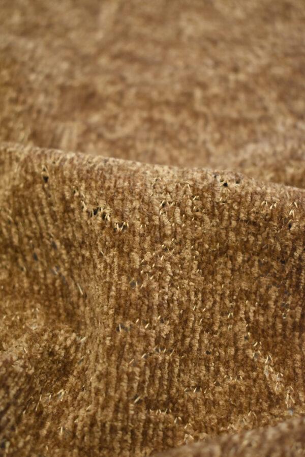 Трикотаж велюровый коричневого оттенка (9383) - Фото 8