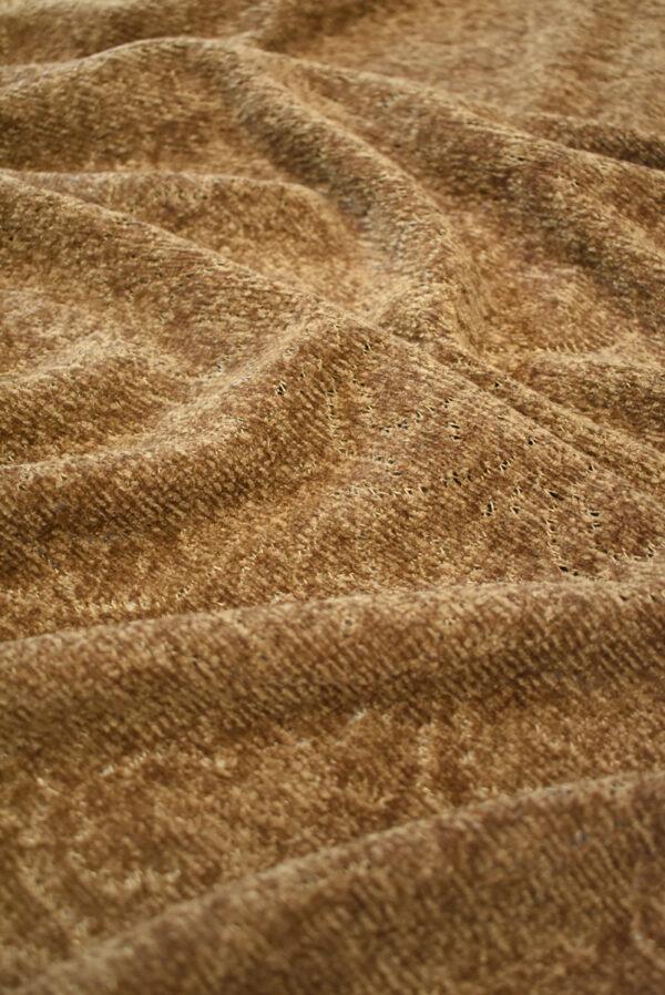 Трикотаж велюровый коричневого оттенка (9383) - Фото 6