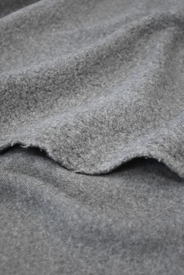 Букле шерстяное серого цвета (9385) - Фото 8