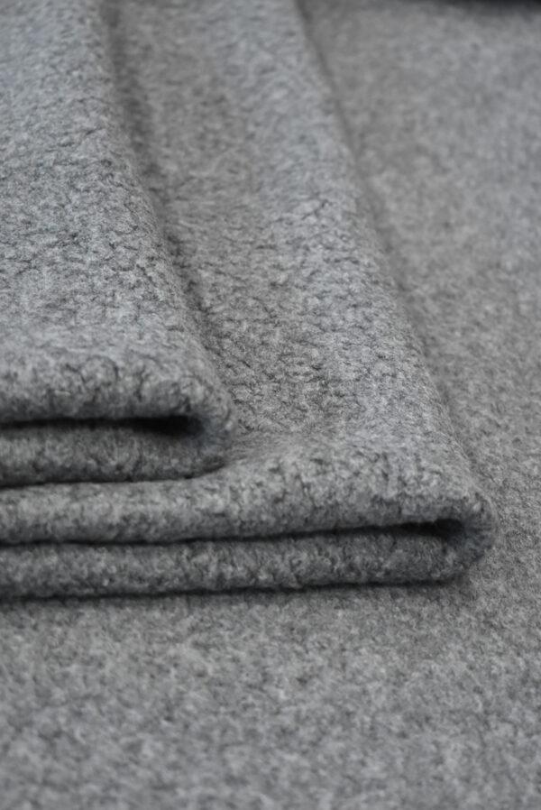 Букле шерстяное серого цвета (9385) - Фото 9