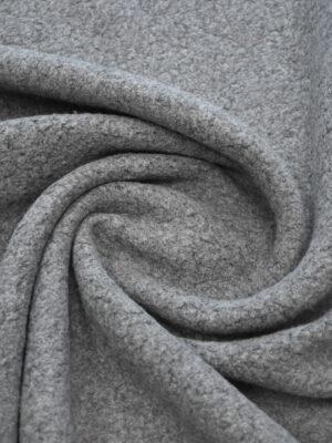 Букле шерстяное серого цвета (9385) - Фото 13