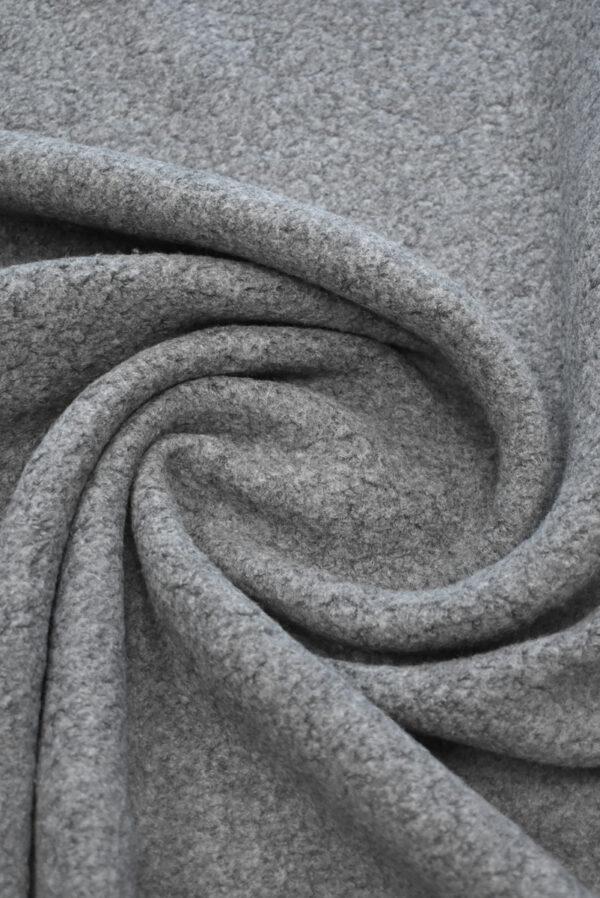 Букле шерстяное серого цвета (9385) - Фото 7
