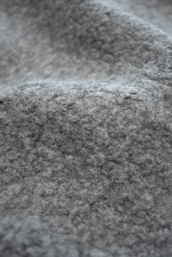 Букле шерстяное серого цвета (9385) - Фото 10