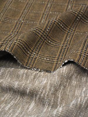 Джерси коричневого оттенка в клетку (9281) - Фото 15