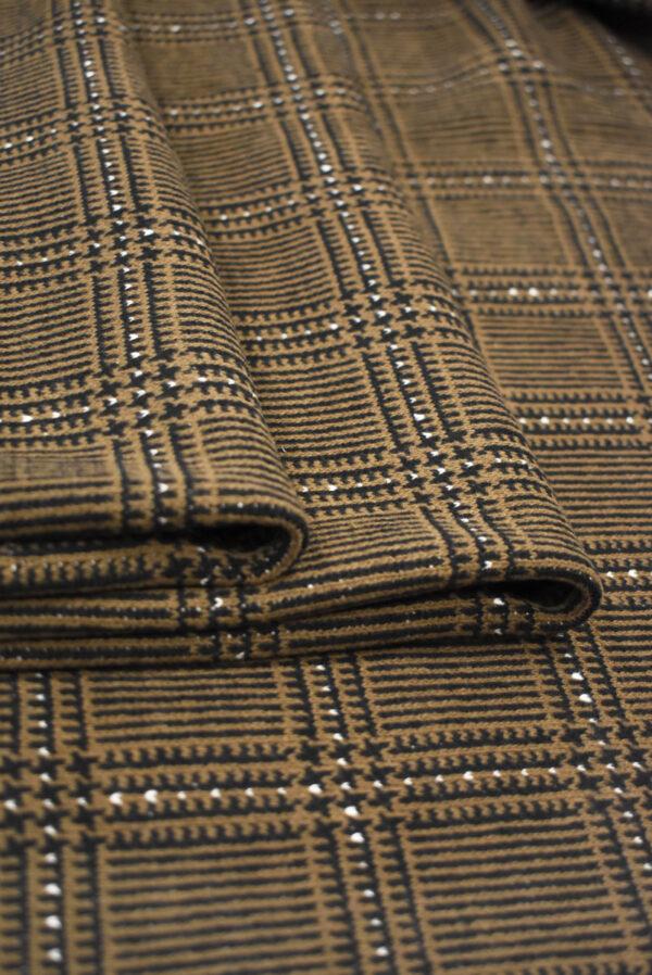 Джерси коричневого оттенка в клетку (9281) - Фото 8