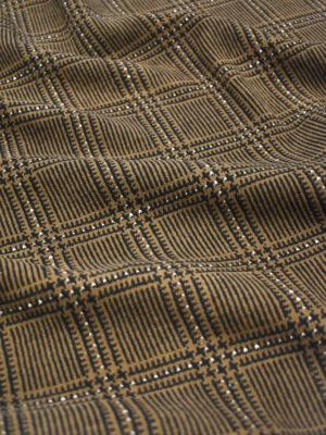 Джерси коричневого оттенка в клетку (9281) - Фото 14