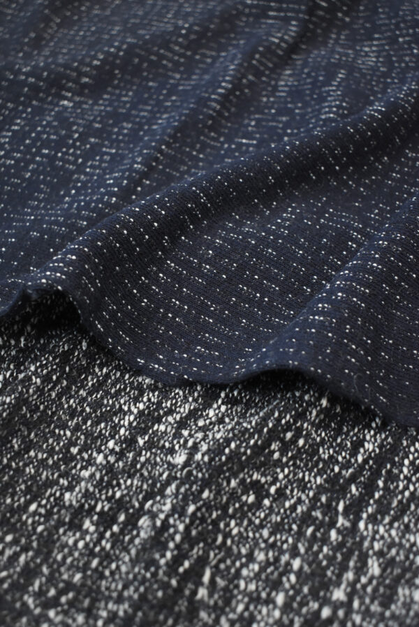 Трикотаж шерстяной темно-синий в полоску (9284) - Фото 8