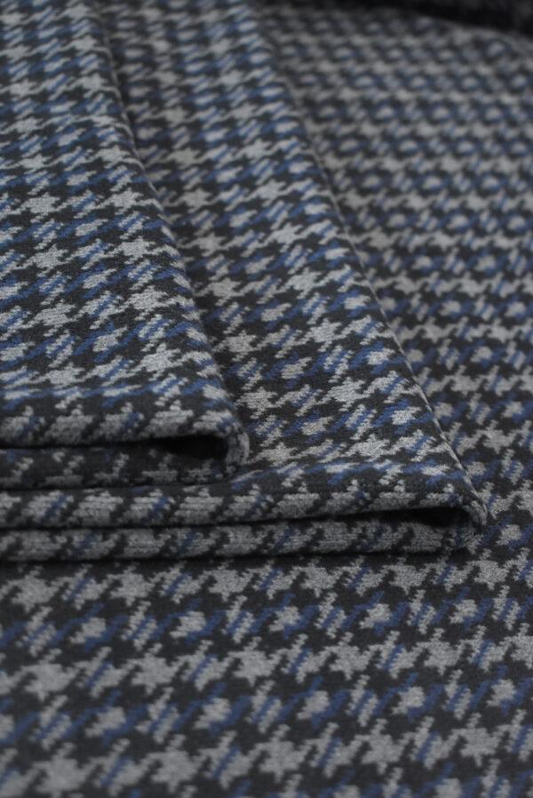 Джерси в серую с синим куриную лапку (9285) - Фото 7
