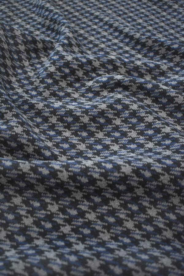 Джерси в серую с синим куриную лапку (9285) - Фото 6
