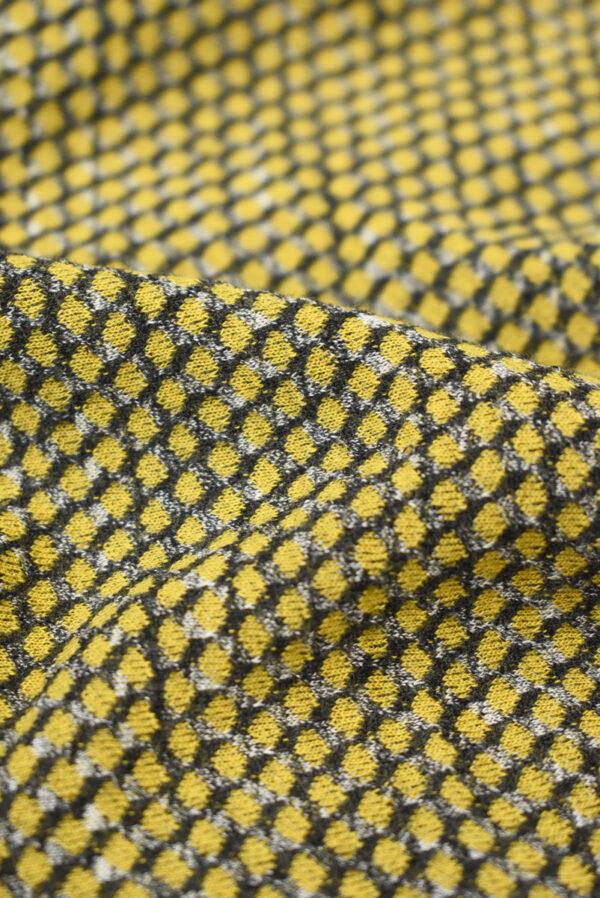 Трикотаж желтый с узором в виде чешуи (9287) - Фото 10