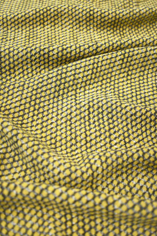 Трикотаж желтый с узором в виде чешуи (9287) - Фото 6