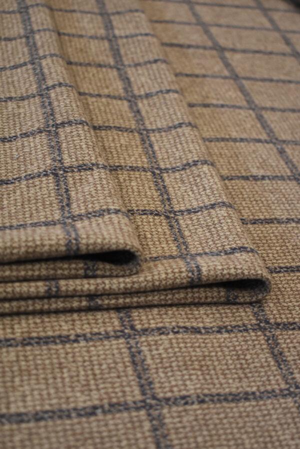 Джерси коричневого оттенка в прямоугольник (9288) - Фото 7