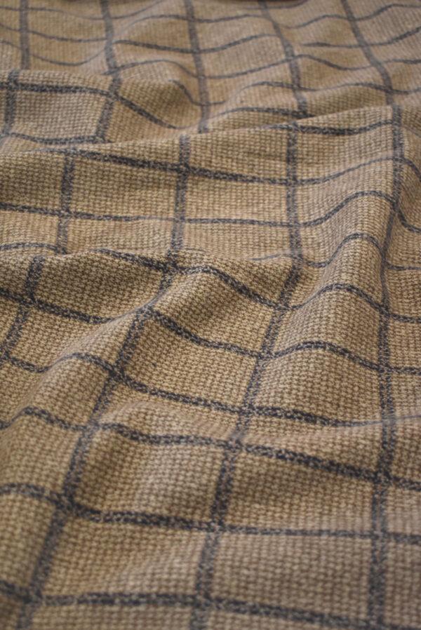 Джерси коричневого оттенка в прямоугольник (9288) - Фото 6
