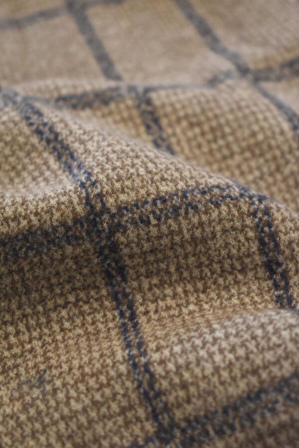 Джерси коричневого оттенка в прямоугольник (9288) - Фото 10