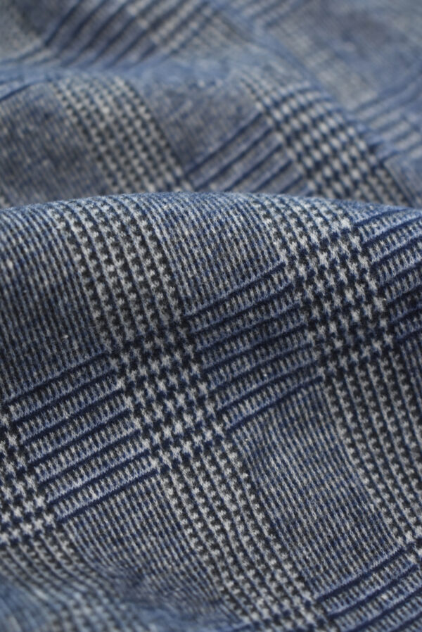 Джерси в серо-синюю клетку (9289) - Фото 10