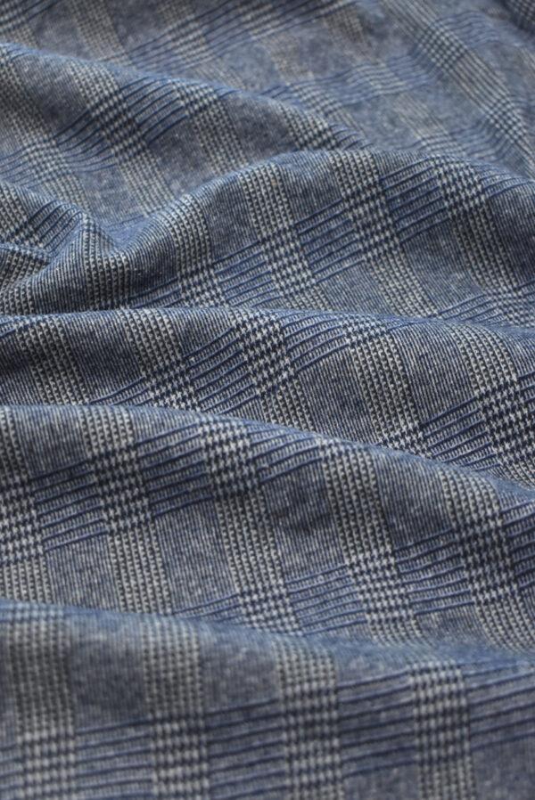 Джерси в серо-синюю клетку (9289) - Фото 6