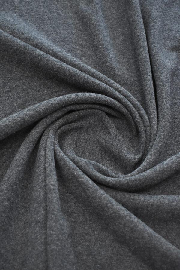 Джерси шерсть темно-серого оттенка (9345) - Фото 8
