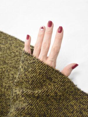 Джерси шерсть коричневый с горчичным меланж (9346) - Фото 13