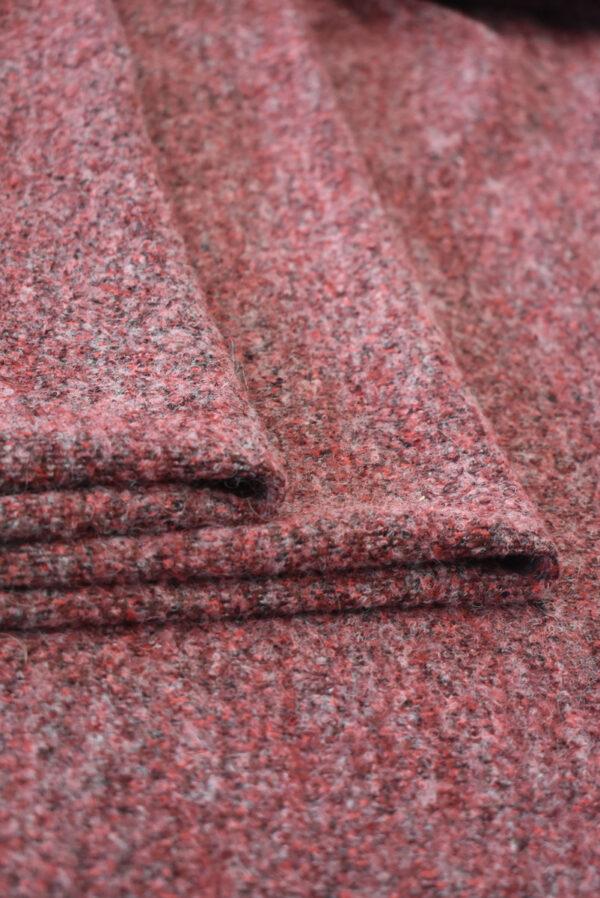 Букле стрейч бордовый (9347) - Фото 8