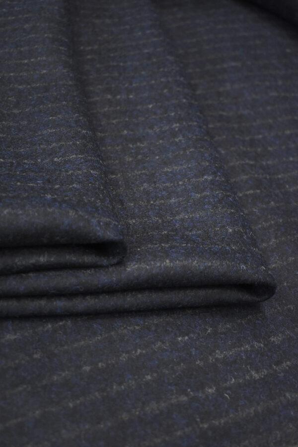 Джерси шерсть двухстороннее черника в полоску (9384) - Фото 9