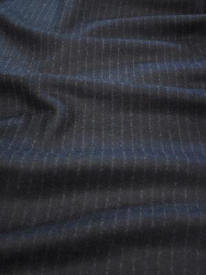 Джерси шерсть двухстороннее черника в полоску (9384) - Фото 14