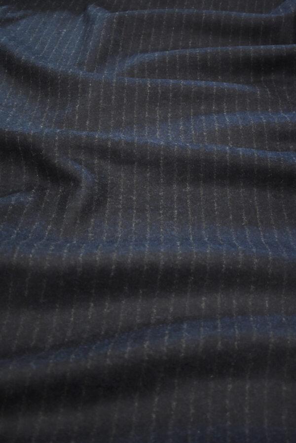 Джерси шерсть двухстороннее черника в полоску (9384) - Фото 6