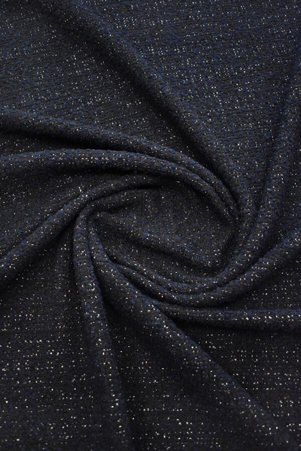 Букле черника с люрексом (9387) - Фото 7