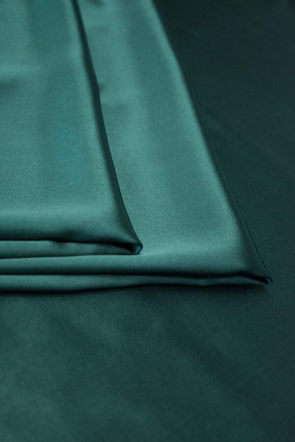 Шелк атласный темно-зеленый (9462) - Фото 9