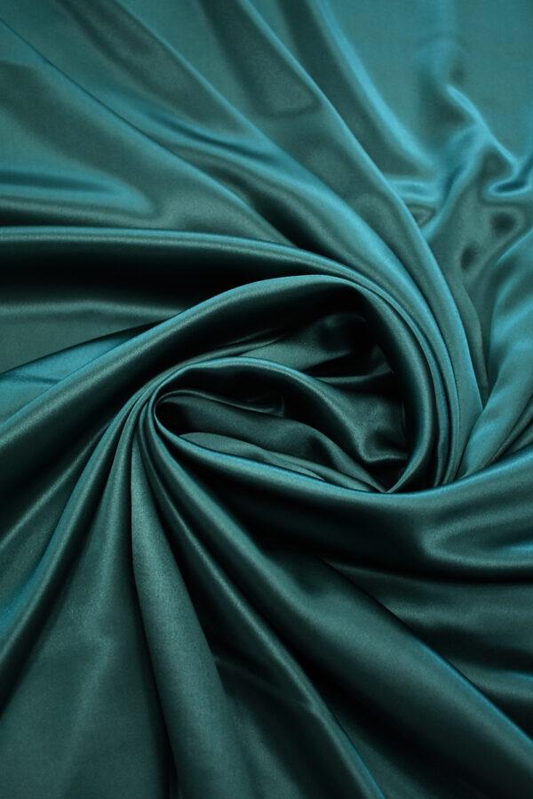 Шелк атласный темно-зеленый (9462) - Фото 8