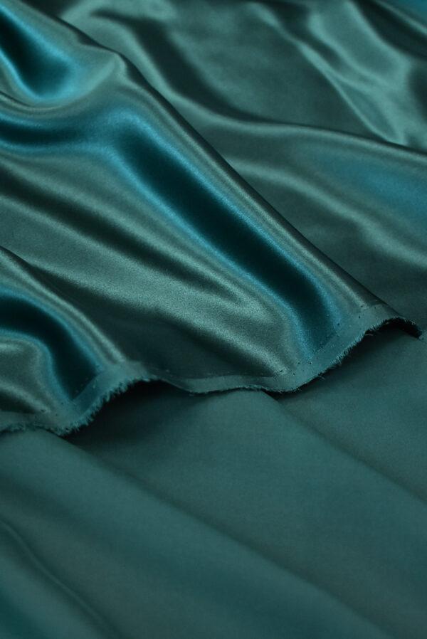 Шелк атласный темно-зеленый (9462) - Фото 10