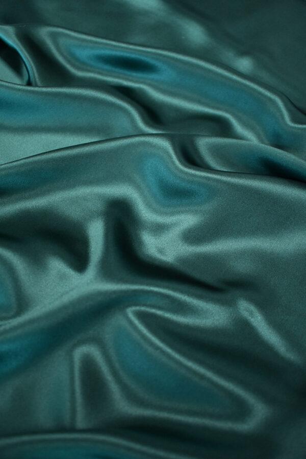 Шелк атласный темно-зеленый (9462) - Фото 6